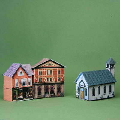 Free Printables for Tiny Traditional Glitter Houses Miniatures