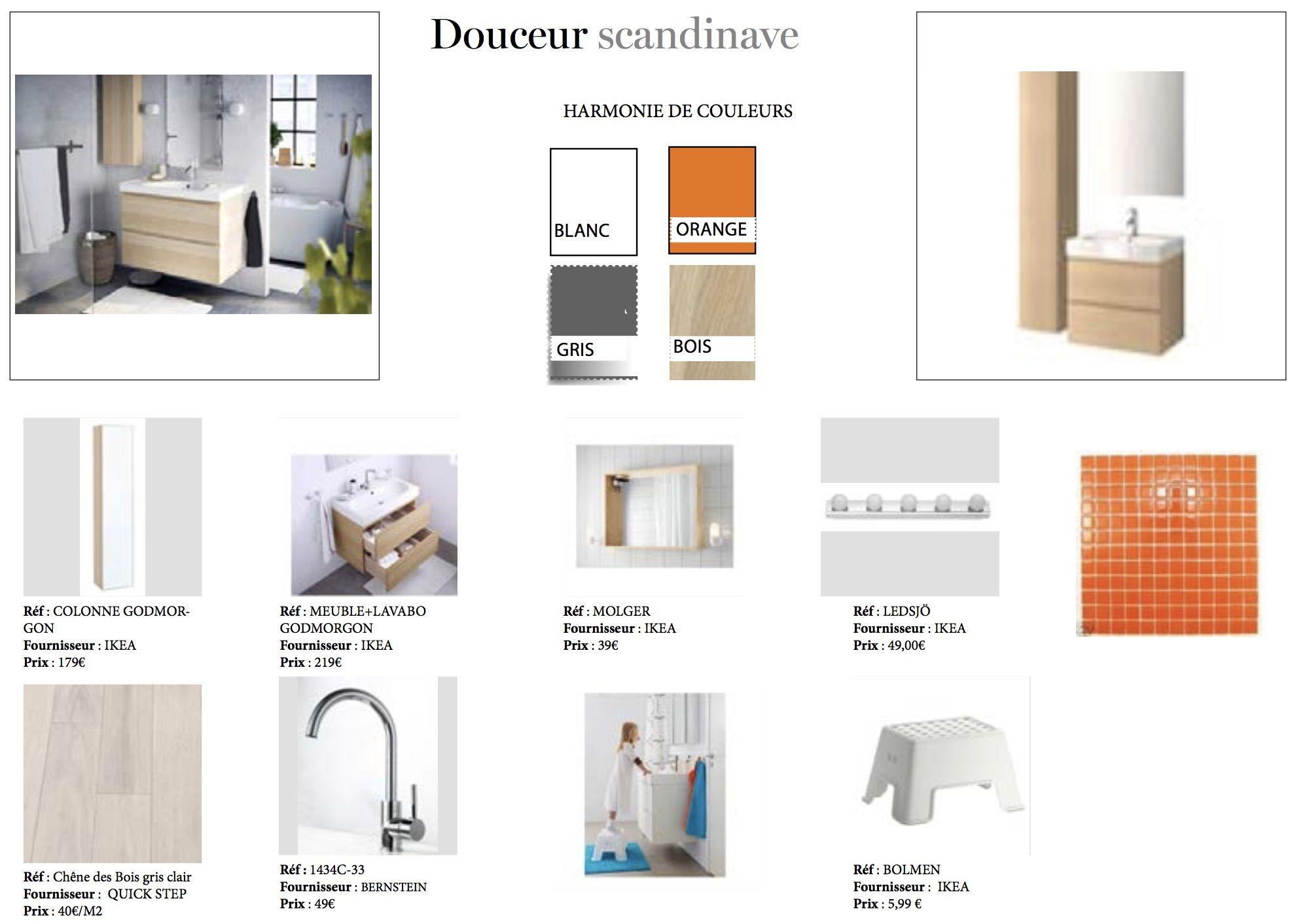 Bernstein Salle De Bain planche d'ambiance rénovation salle de bain bois clair, gris