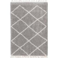 Photo of benuta Hochflorteppich Ebba Grau 80×150 cm – Berber Teppich benuta