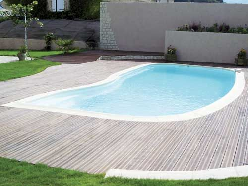 Piscine Coque Polyester Melodie Fabrication Francaise Excel Piscines Forme Haricot Piscine Arrondie Fond Plat Piscine Piscine Enterree Piscine Coque