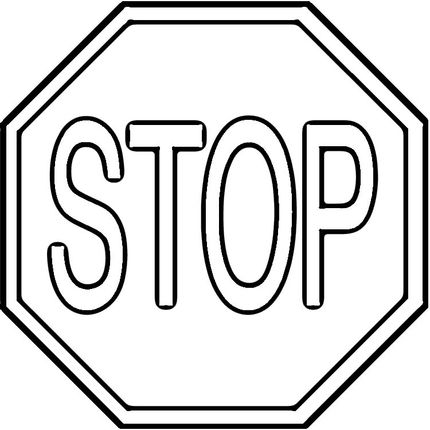 Click to see printable version of Stop Sign coloring page Skool