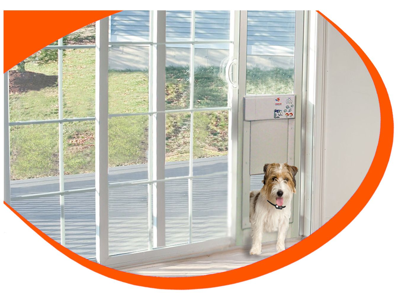 Power Pet Electronic Pet Door For Sliding Glass Patio Doors Pet