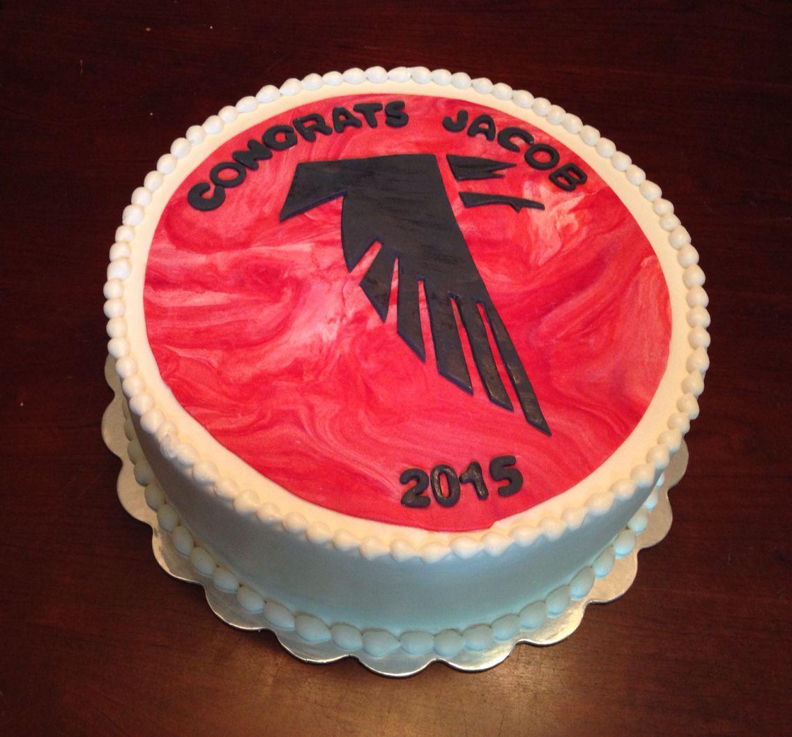 Falcons Graduation Cake
