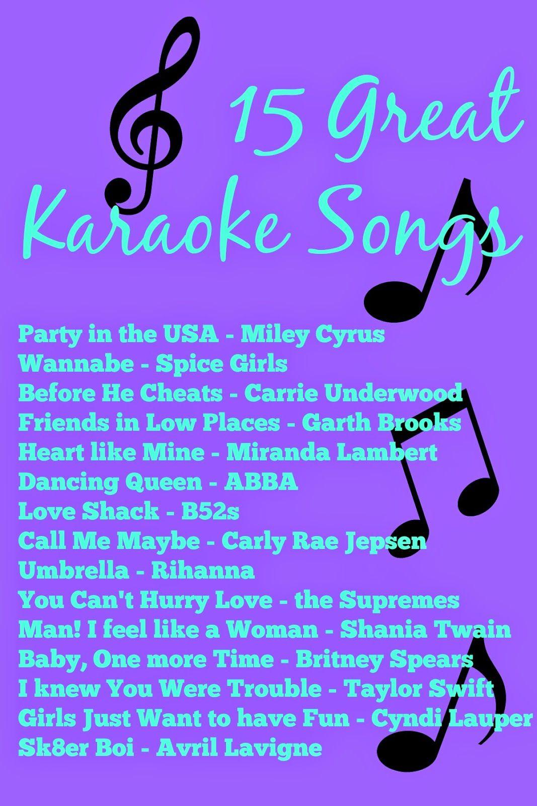 Best Karaoke Songs 2019 15 great karaoke songs | hodge podge in 2019 | Karaoke songs, Best