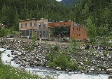 Sandon, BC     Ghost town on preceding map,as it stands today  Old