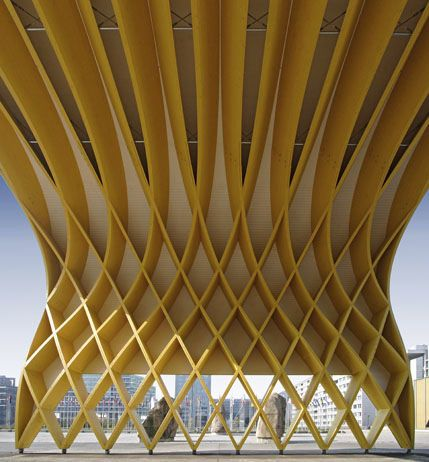 Glulam Timber Framework Austria Center Vienna