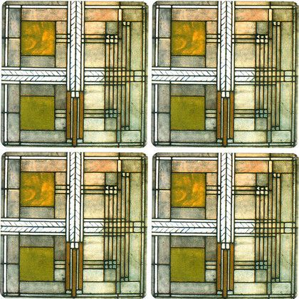 Frank Lloyd Wright Willits House Coasters Set Of 4 Frank Lloyd Wright Frank Lloyd Wright Oak Park Frank Lloyd Wright Stained Glass