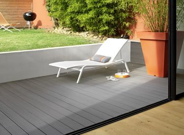 Terrasse Composit 30 X 145 Mm Gris Anthracite