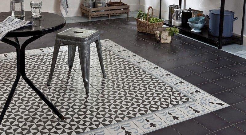 Idées Déco Avec Des Motifs Carreaux De Ciment Ciment - Carrelage cuisine motif pour idees de deco de cuisine