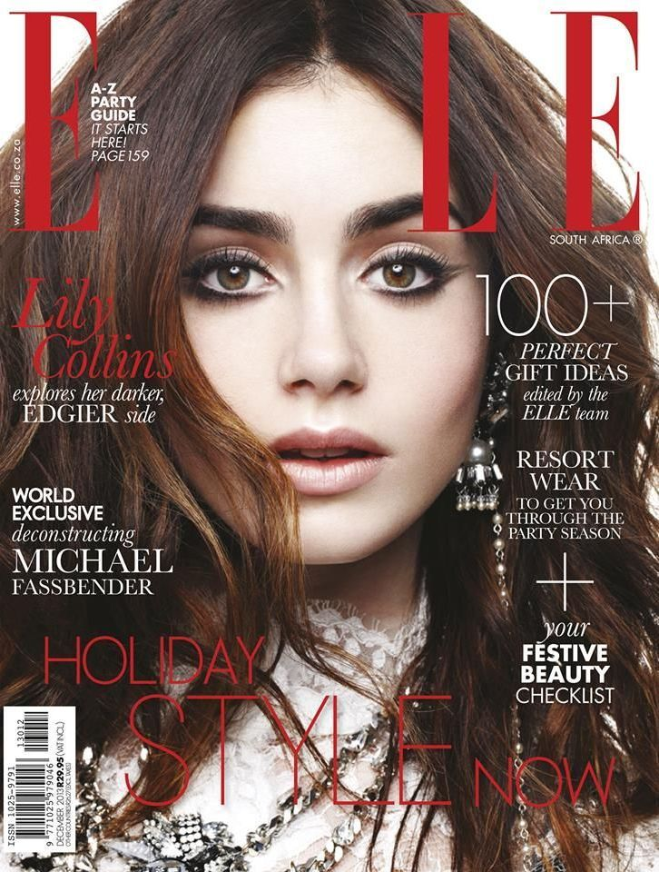 Elle Magazine South Africa December 2013 | Lily Collins