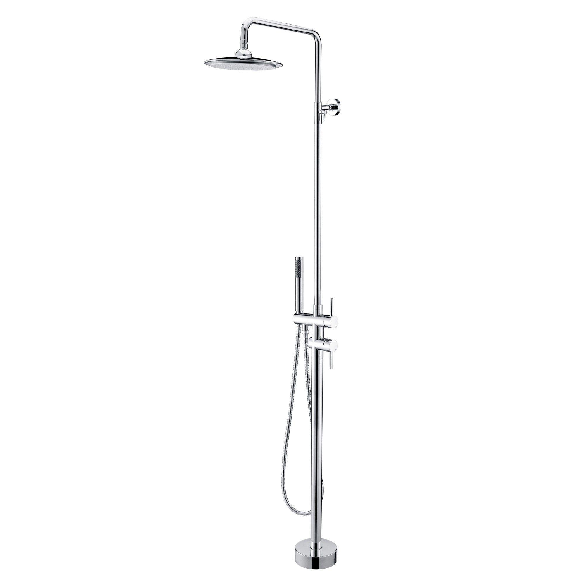 $350.00 Brewst Freestanding Rain Shower Head and Hand Shower ...
