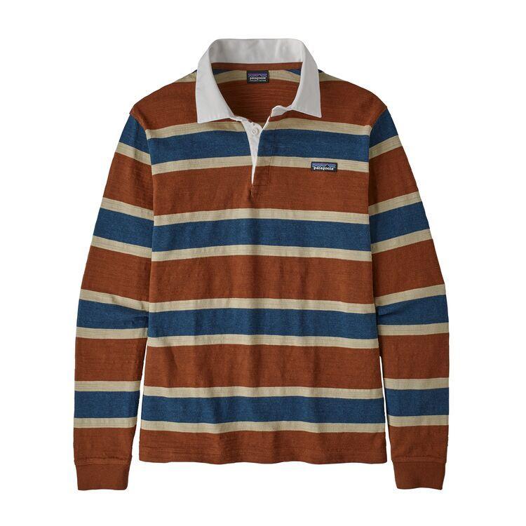 Patagonia L S Lw Rugby Shirt Sisu Brown Trouva In 2020 Mens Rugby Shirts Rugby Shirt Sweater Outfits Men