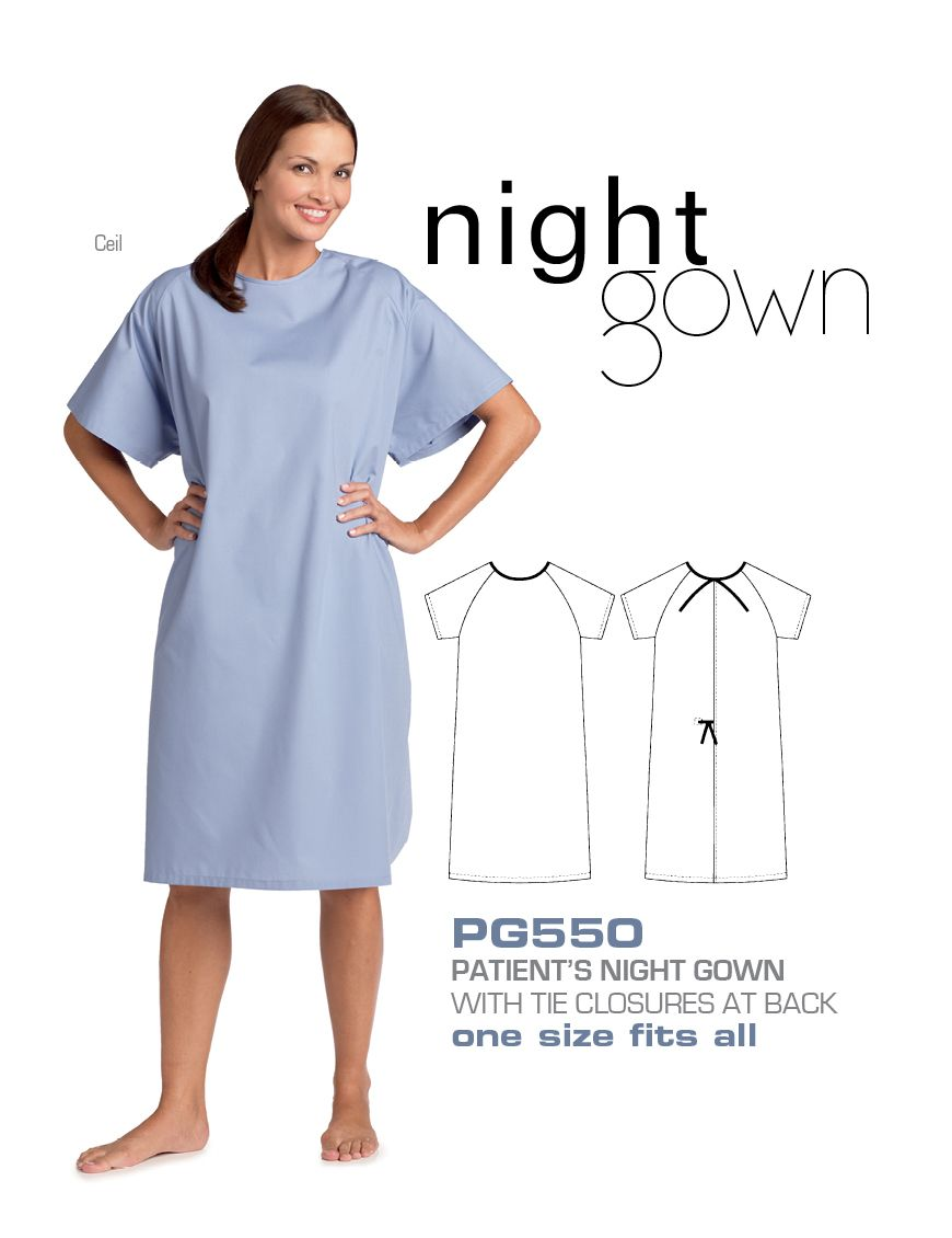 Patient Night Gown : Hospital basics. Patient night gown is plain ...