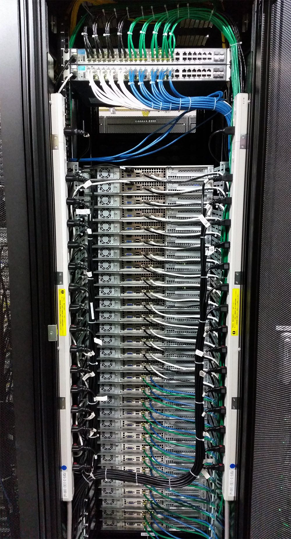 hight resolution of crazy server rack neatly done