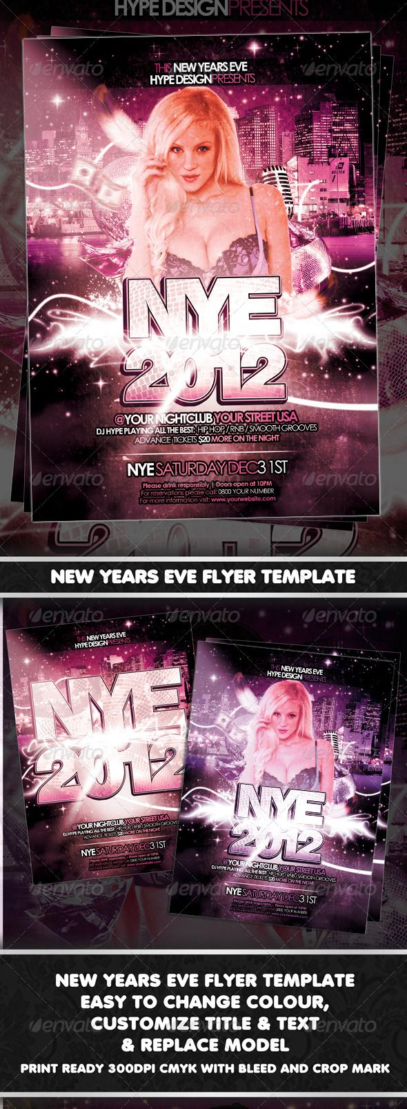 New Years Eve Flyer Template New year's eve flyer, Flyer