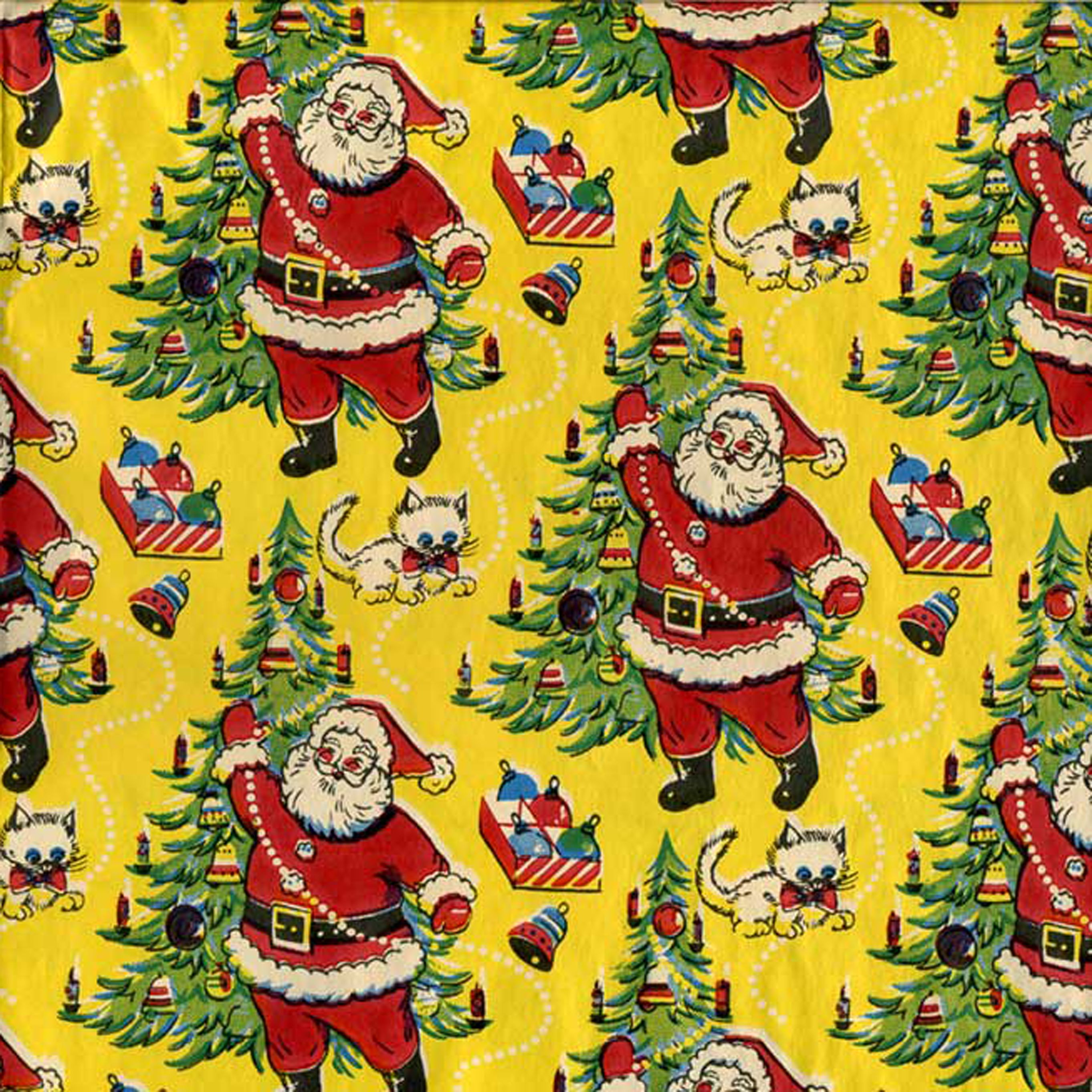 Items Similar To Vintage Santa S Workbench Dickens Choir: Vintage Christmas Wrapping Paper
