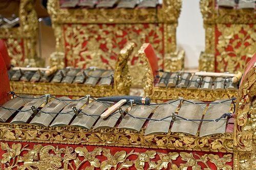 Gamelon. Indonesia Instrument. Bali. Detail.