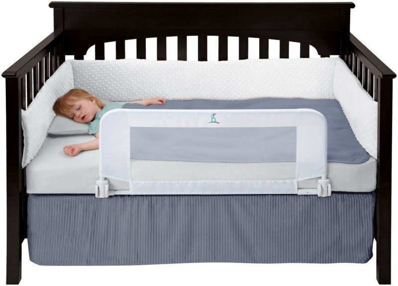 Hiccapop convertible crib toddler bed rail guard with