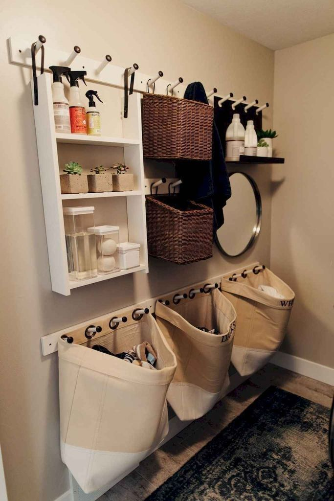 Photo of 40 Stunning DIY Laundry Room Storage Shelves That Made Of Wooden Material