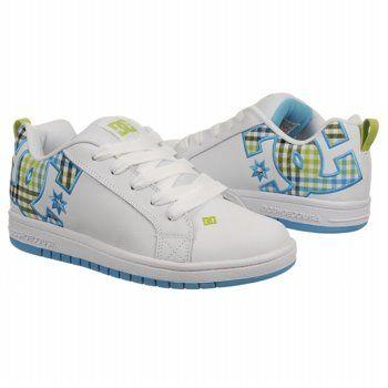 DC Shoes Court Graffik SE P/G Shoes (Wht/Turq/Soft Lime) - Kids' Shoes - 12.5 M