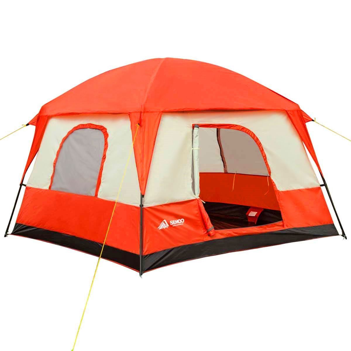 Semoo Waterproof 4-5 Person 2 Doors3 Season Family Cabin Tent for C&ing with Compression  sc 1 st  Pinterest & Semoo Waterproof 4-5 Person 2 Doors3 Season Family Cabin Tent for ...