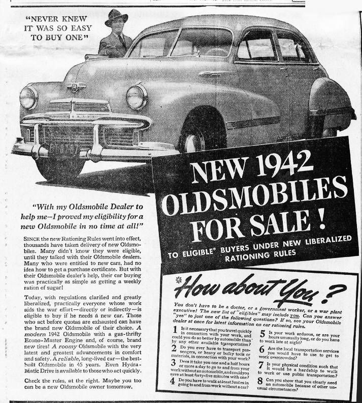 1942 Newspaper Ad - Getting a new car loan in the 40\'s ...