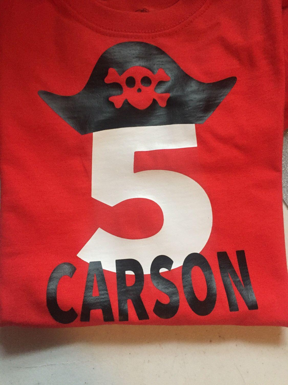 Pirate Birthday Shirt by AmbersCuttinCorner on Etsy https://www.etsy.com/listing/278173514/pirate-birthday-shirt