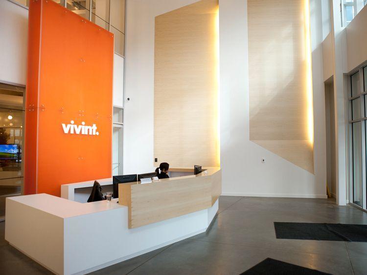 Front Desk At Vivint's Headquarters In Provo Utah