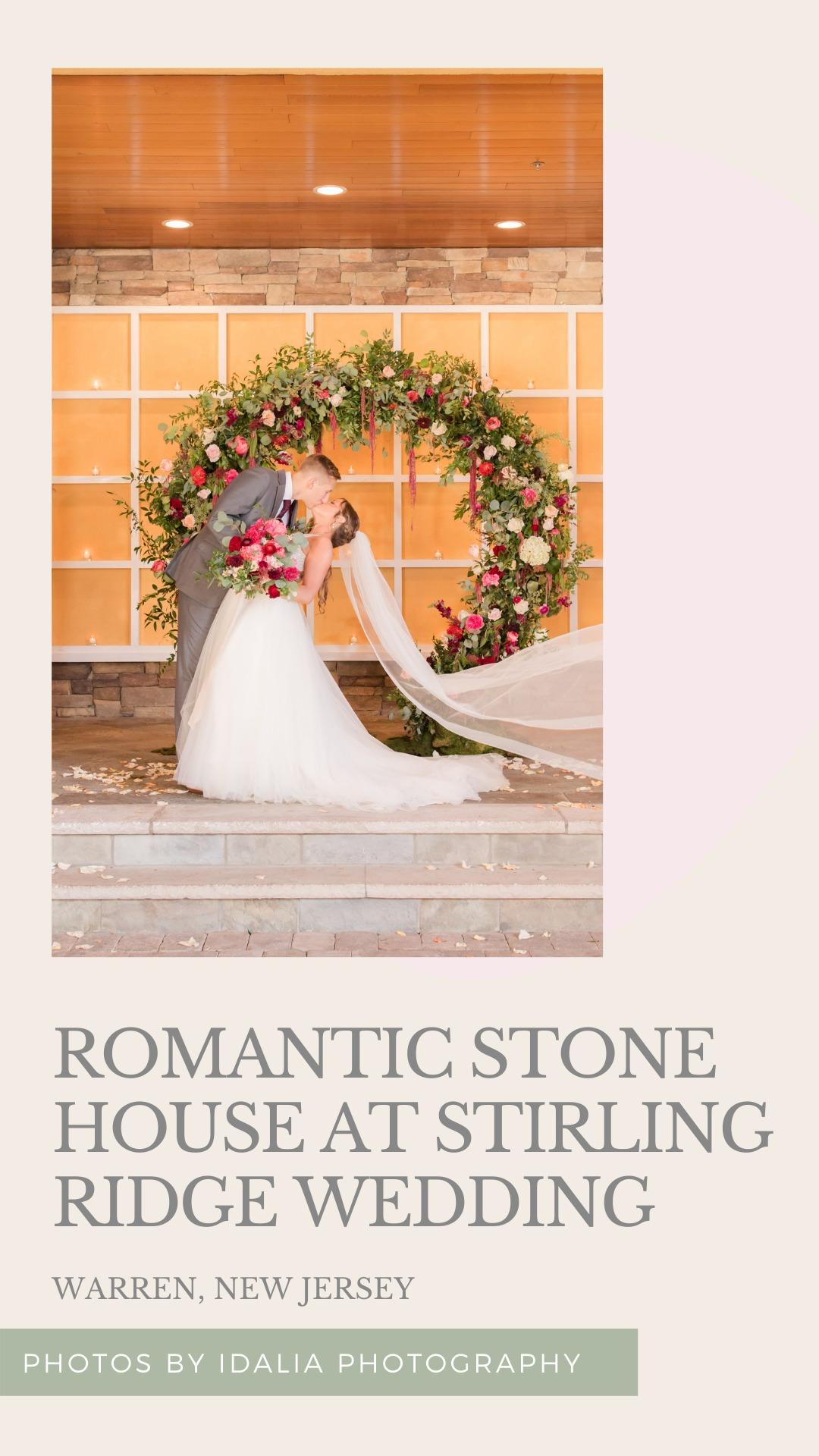 Romantic Fall Stone House at Stirling Ridge Wedding