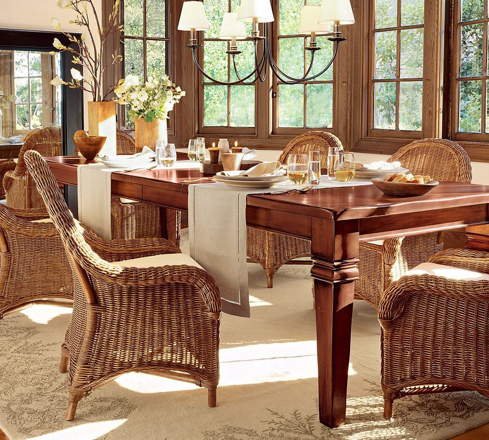 Dining Room Gorgeous Wicker Dining Room Sets Have Dining Table Sets Wicker  6 Chairs Have Under Pictures Gallery
