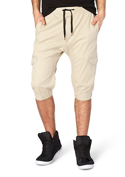 Rue 21 Mens; Twill Cargo Jogger Short, Khaki, April 15 | My ...