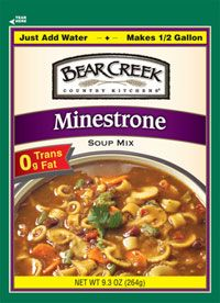 Bear Creek Minestrone Soup Mix Very Good Soup I Add A Can Of Italian Flavored Diced Tomatoes And So Bear Creek Soup Darn Good Chili Recipe Vegetable Beef Soup