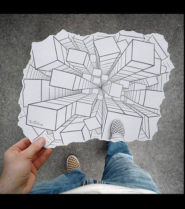 Une Illusion D Optique Interessante Illusion Pinterest