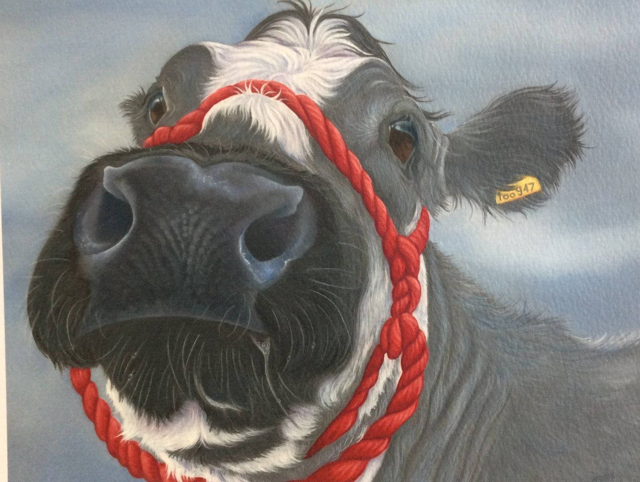 Alice The British Blue Cow Painting Cow Painting Blue Cow Dog Paintings