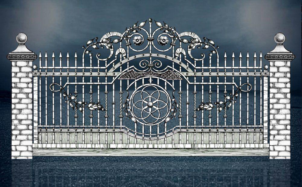 картинки ограды и ворот декоративные
