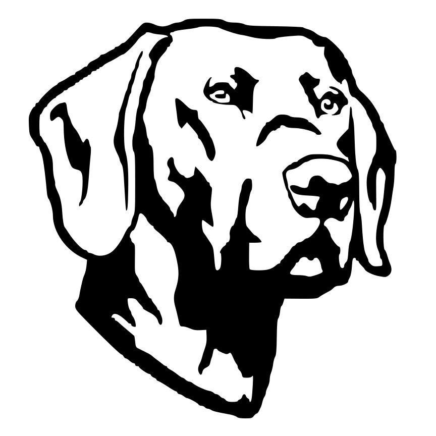 Labrador Retriever Die Cut Decal Car Window Wall Bumper Phone Laptop