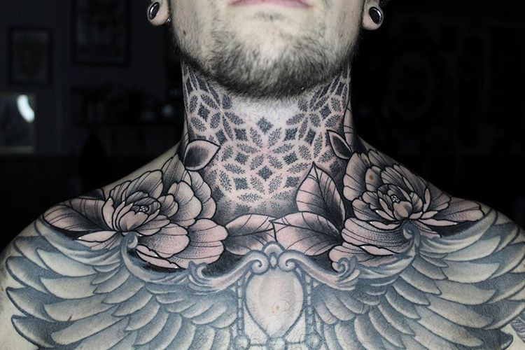 Geometric Inspiration Inkstinct Geometric Girltattoo Inkstinct Inspiration Smalltatt In 2020 Full Neck Tattoos Back Of Neck Tattoo Men Back Of Neck Tattoo