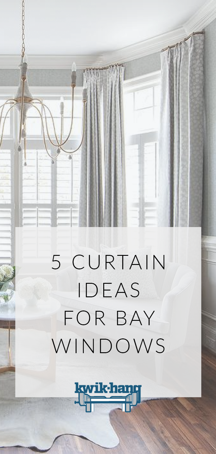 5 Curtain Ideas For Bay Windows Curtains Up Blog Kwik Hang Window Curtains Living Room Window Treatments Living Room Dining Room Window Treatments