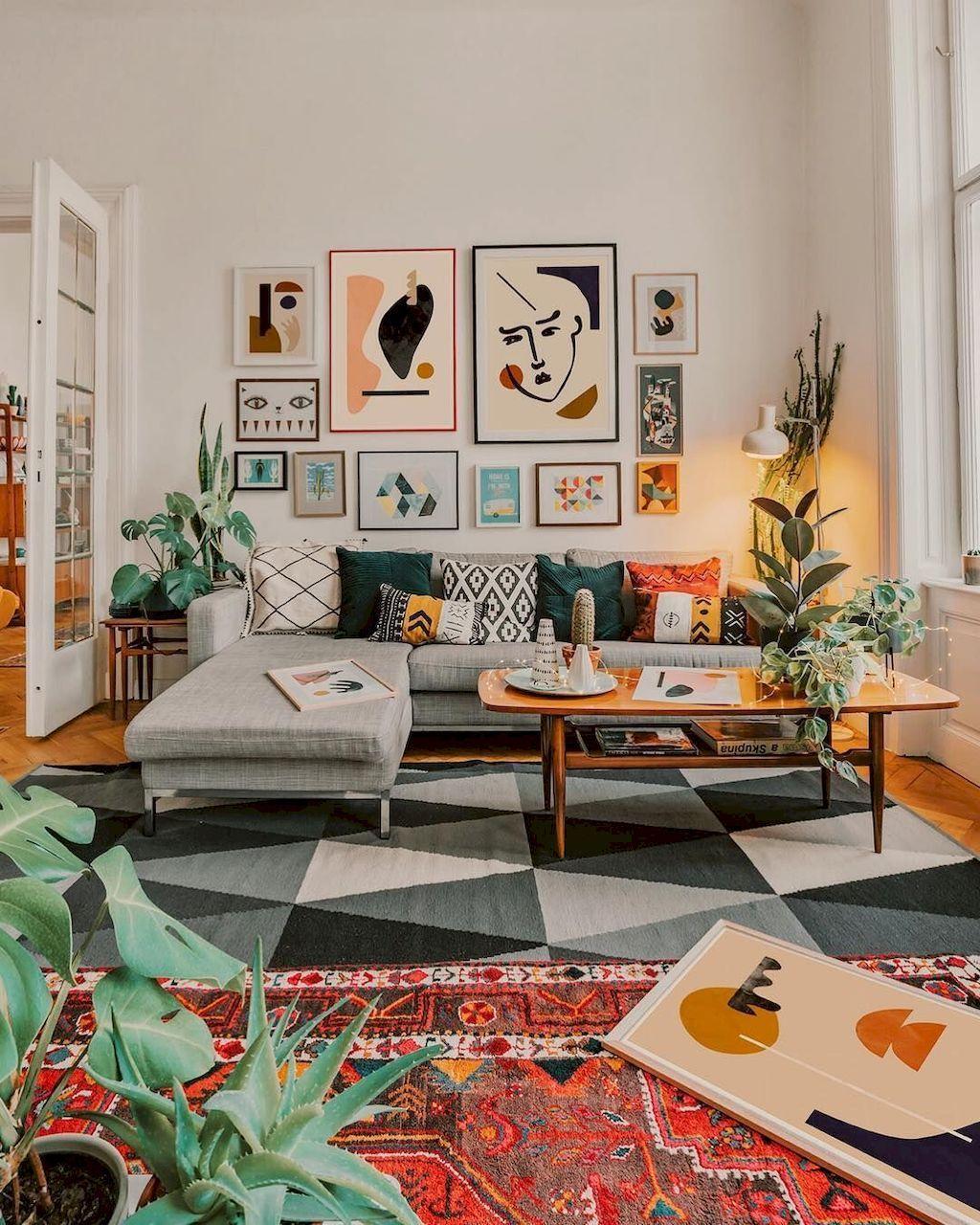 Cozy minimalist modern living room