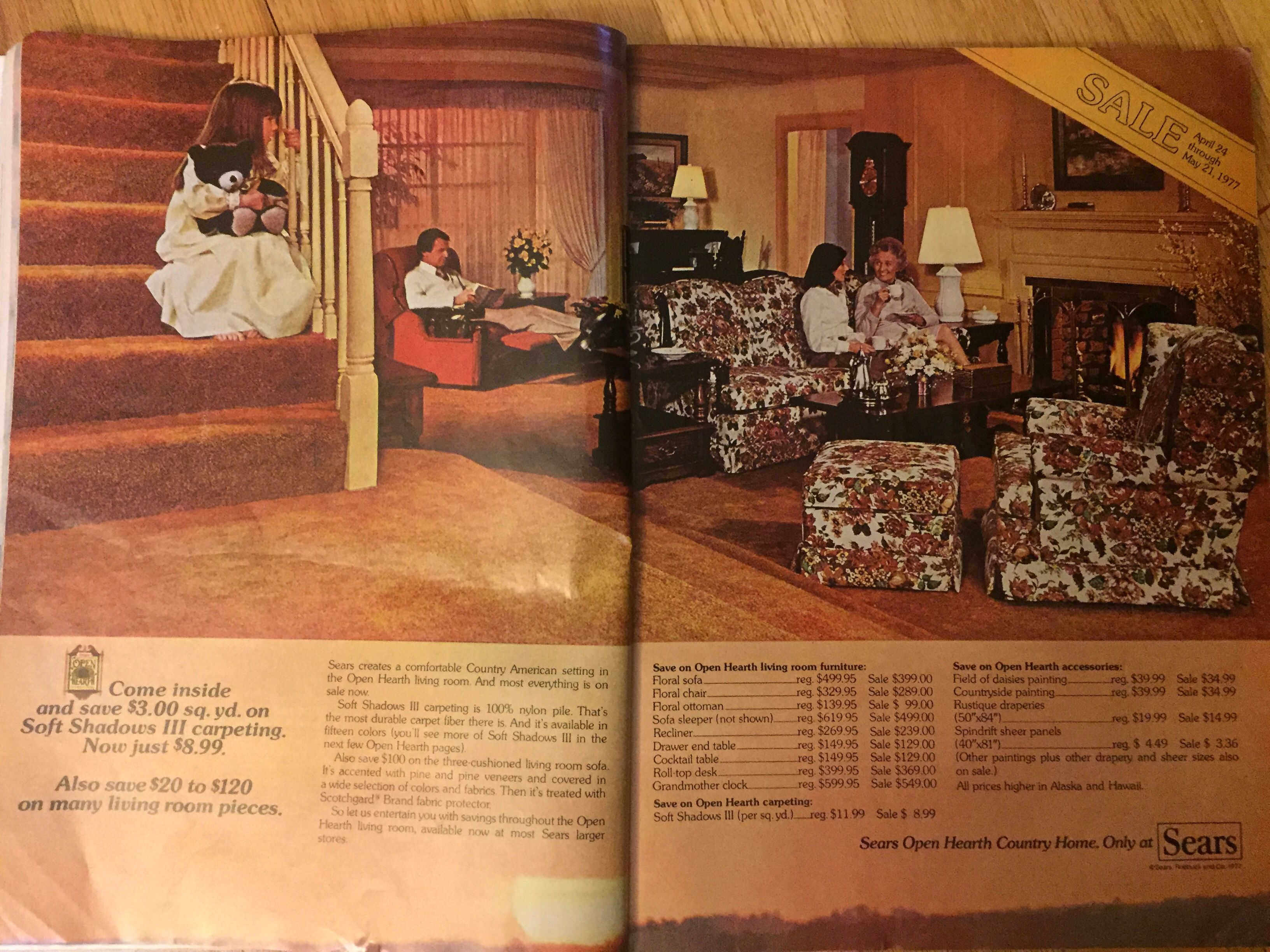 Sears Open Hearth Living Room Ad From 1977 Good Housekeeping Living Room Sets Furniture Cozy Living Room Furniture Family Room Design #sears #living #room #sets