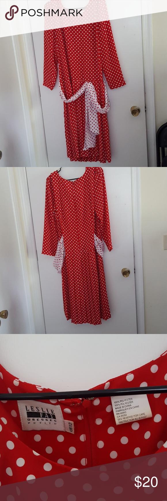Leslie fay polkadot dress pinterest white polka dot dress