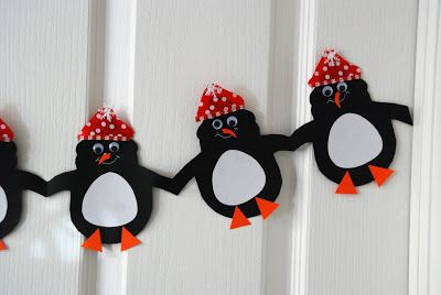 How to make adorable holiday paper chains snowman for Snowman paper chain template