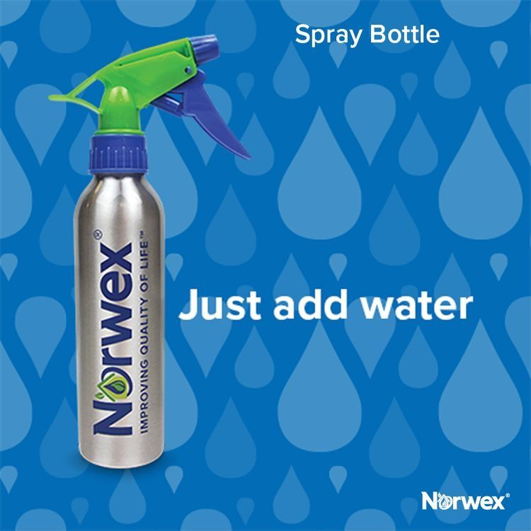 The new Norwex logo'd spray bottle