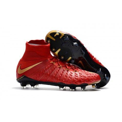Prodaja Nike Hypervenom Phantom III DF FG Kopačke Red Gold Black