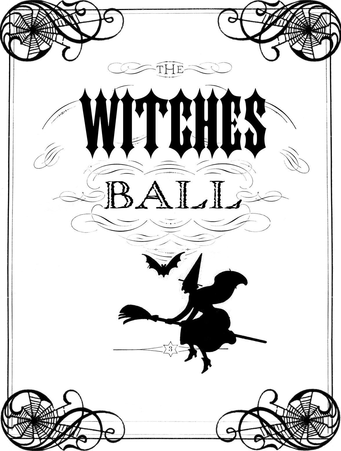 Vintage Halloween Printable The Witches Ball The Graphics Fairy Vintage Halloween Halloween Printables Halloween Witch