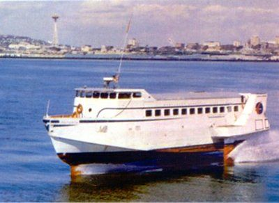 Hs Victory Hydrofoil Ferry With T Foil In 1960 S