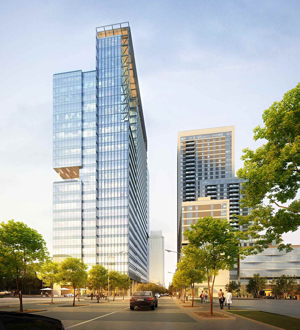 Austin 500 West 2nd Street 400 Feet 28 Floors Site Prep Skyscraperpage Forum Office Building Architecture New Downtown Office Tower