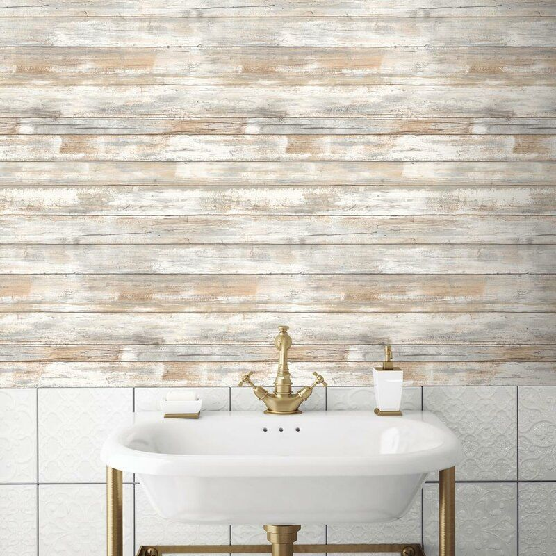 """Reclaimed 12' x 100"""" Wall Mural Wood plank texture"""