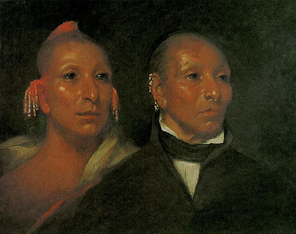 Black Hawk And His Son Whirling Thunder - John Wesley Jarvis