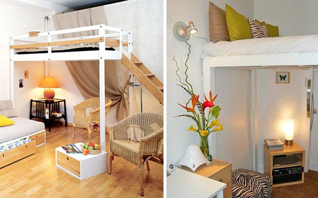 Camas en alto para espacios peque os varios - Camas dobles infantiles para espacios reducidos ...